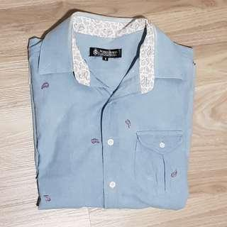 Short Sleeve Sky Blue Shirt