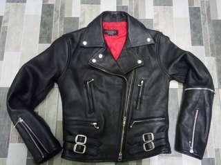 Authentic leather jacket rocker punk metal rider