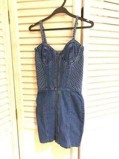 ASOS Denim Bustier Dress $12