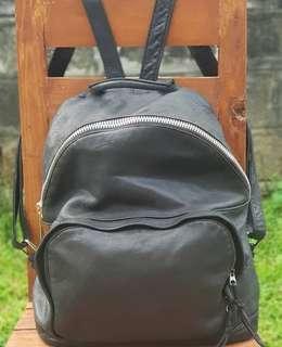 Authentic Borsetta Black Backpack in Soft Lambskin