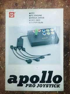Apollo 阿波羅 PRO JOYSTICK 大手制 SFC PC ENGINE MEGA DRIVE NEO GEO SUPER GUN 超級任天堂 全套有盒 罕有收藏