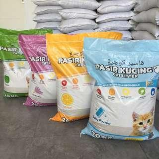 3bags of 20kg Kawan Pasir Kucing (Cat Litter)