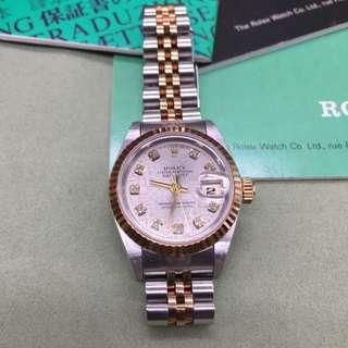 Datejust 10P diamond combination 69173 G Watches Stainless steel Stainless Steelx 18K Yellow Gold Stainless Steelx 18K Yellow Gold Women