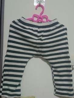 🚚 二手條紋厚棉哈倫褲 110碼版小