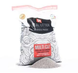 3pkt of Real Litter Multicat (10L