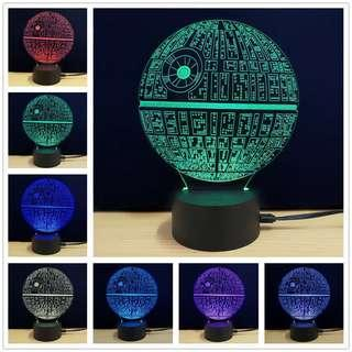 Onhand Star Wars Death Star 7 Colors 3D LED USB Night Lamp