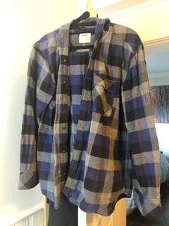 TNA hooded flannel shirt