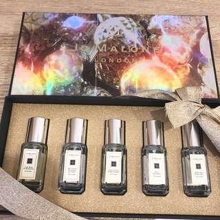 拆售Jo malone 聖誕限定白瓶禮盒 9ml 藍風鈴 杏桃花與蜂蜜 鼠尾草與海鹽