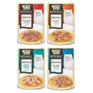 2 boxes x 12pkt 40g Fancy Feast Royale Broth (Various Flavours)