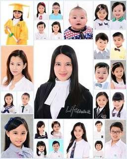 專業 嬰幼兒 兒童 面試相 証件相