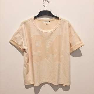 Cotton On Soft Peachy Pink Boxy Top