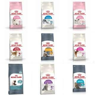 4kg Royal Canin (Various) Cat Food