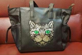 🚚 韓版綠眼貓包包