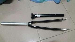 carbon fork, alloy seatpost