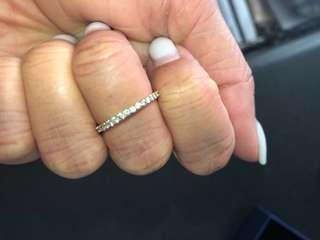Swarovski Rose Gold Diamond Band size 52