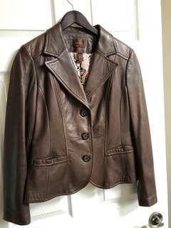 Danier Dark brown leather jacket