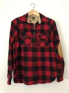 ROOTS Canada Algonquin Buffalo Plaid Flannel Button Down Shirt