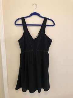 Abercrombie beaded black dress