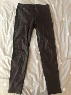 Aritzia Wilfred leather tights
