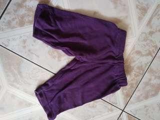 Celana panjang bayi ungu