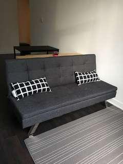 Grey futon