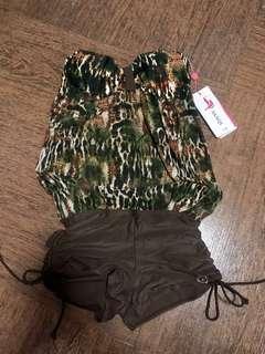 Romper style swimsuit