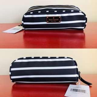 Kate Spade New York Small Berrie Wilson Road Pencil/Makeup Case Brand New With Tags
