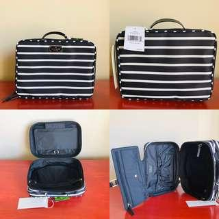 Kate Spade New York Wilson Road French Stripe Travel Toiletry Bag Brand New With Tags