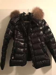 Moncler Women's Down Jacket with Fur Hood
