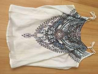 Flowy sparkling cami with gems