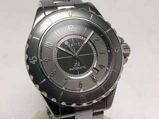 CHANEL 金屬灰 J12 Chromatic 鈦陶瓷腕錶41MM H2934 盒單齊