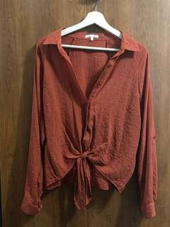 Button up/Tie up Longsleeve Top