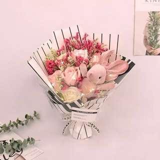 Valentine's flower/soap flower