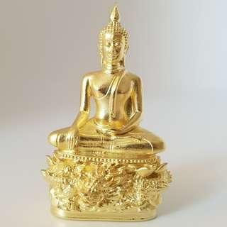 Phra Kring Mangkorn Thong Roop Lor Pit Thong (Gold Leaf) with Kring Ball Inside / 金龙圣佛 / Wat Traimit / BE2561