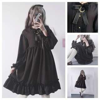 - RESTOCKING - Lolita Black Dress