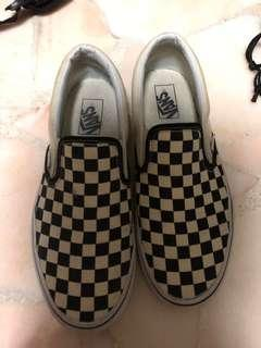 Vans checkers board slip on