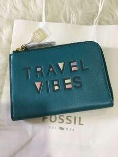 Fossil passport purse leather