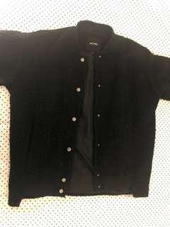 Black woollen jacket