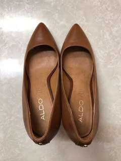 ALDO Brown Genuine Leather Heels