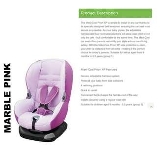 Maxi Cosi Priori XP Car Seat (Suitable for Toddler age 9 months onwards)
