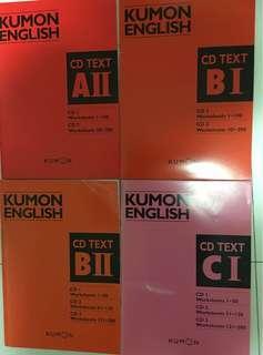 Kumon English ( with CDs ) ( free gift )