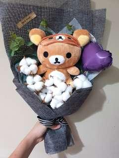 Rilakumma cotton flower bouquet
