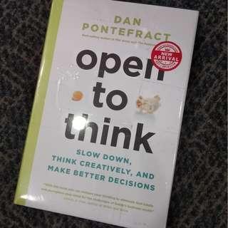 Buku import Open to Think by Dan Pontefract ori bahasa inggris