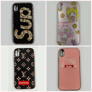 iPhone Xs X Cover Case to Clear! LV Supreme Hello Kitty