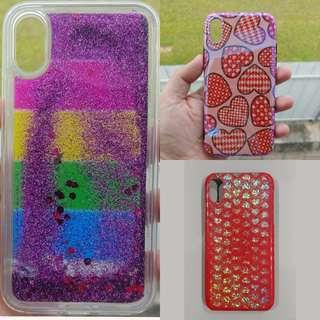 *Only $2* iPhone Xs X Case Cover to Clear! Rainbow Hearts