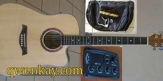 A&K Acoustic Guitar 41Inch #320E Pickup/Tuner