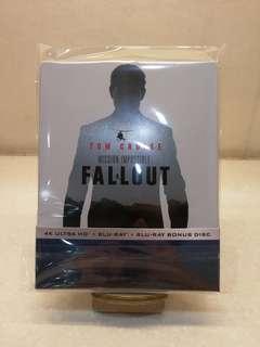 港版 職業特工隊:叛逆之謎 Mission Impossible 6 Fallout 4K Ultra HD + Blu-ray + Bonus Blu-ray Steelbook MI6 藍光鐵盒