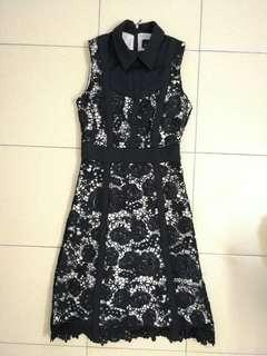 Doublewoot Lace Dress -Black