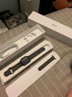 Apple Watch 3 gps 42mm 黑 灰錶帶