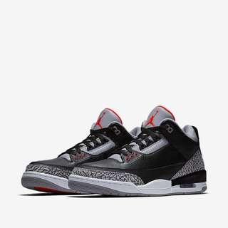 Nike Air Jordan 3 OG Retro Black Cement (2018)